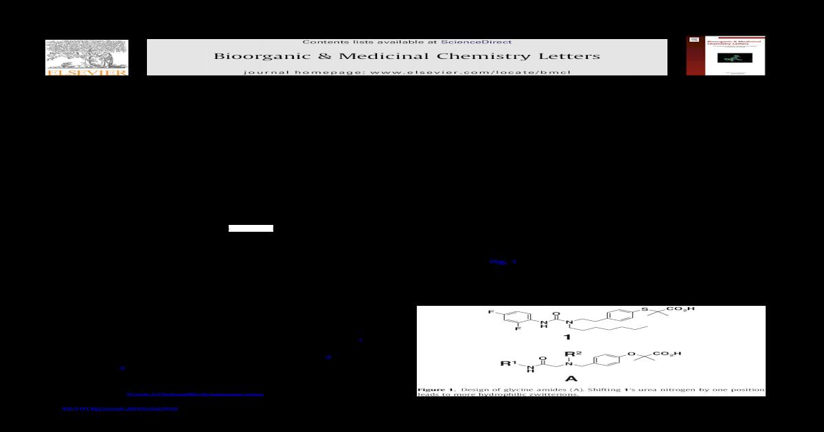Glycine amides as PPAR agonists
