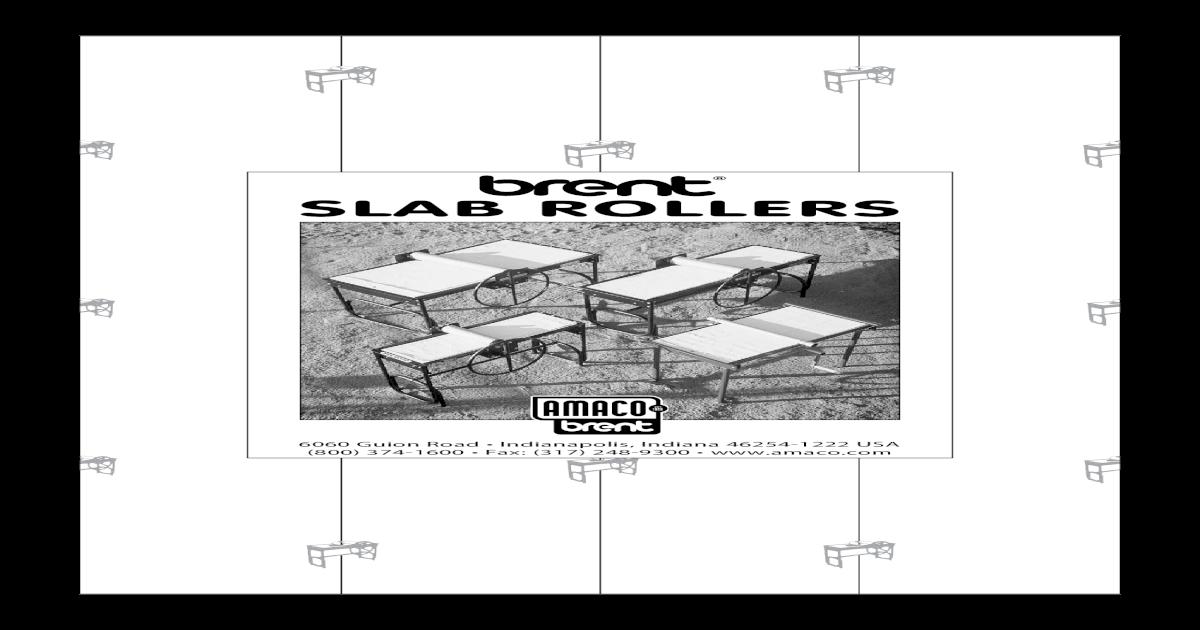 AMANCO Slab Rollers Manual