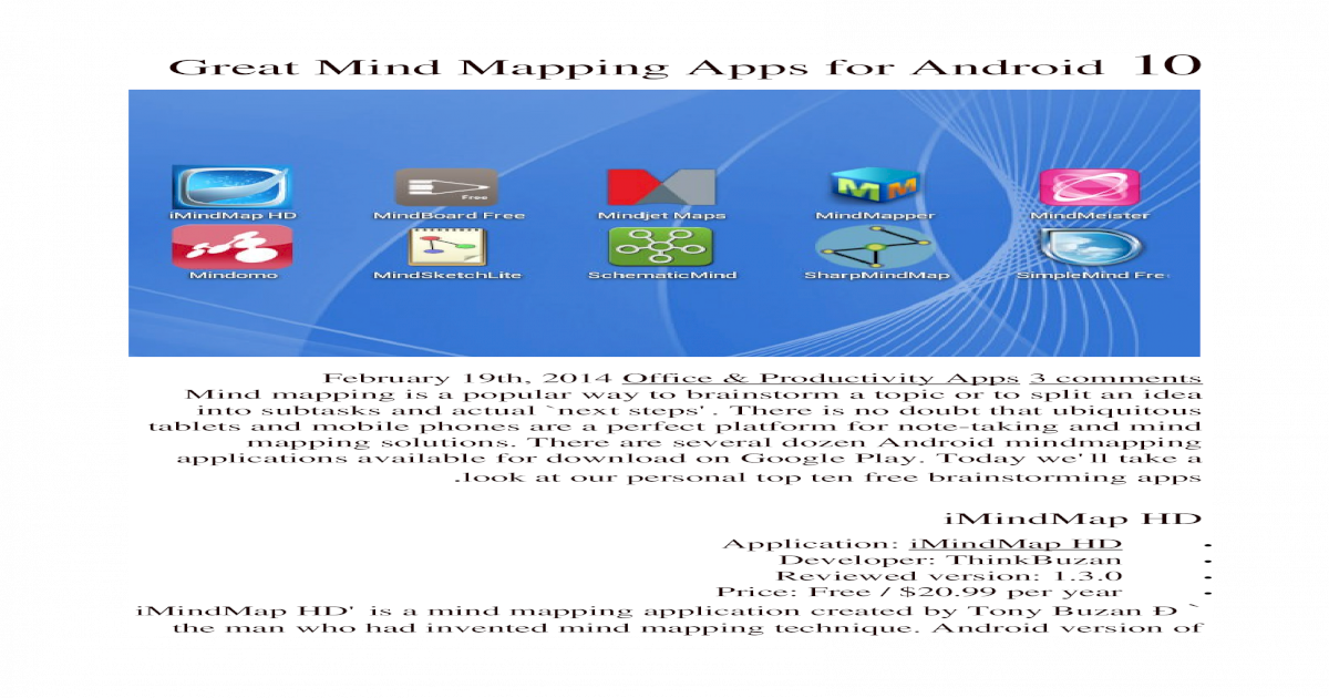 10 Great Mind Mapping Apps for Android + Image Occlusion in Anki