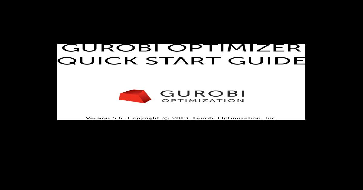 Gurobi Optimizer