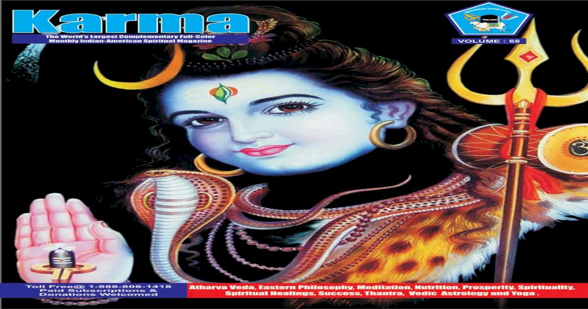 Spiritual Karma Magazine 68  Published by Swamiji Sri Selvam