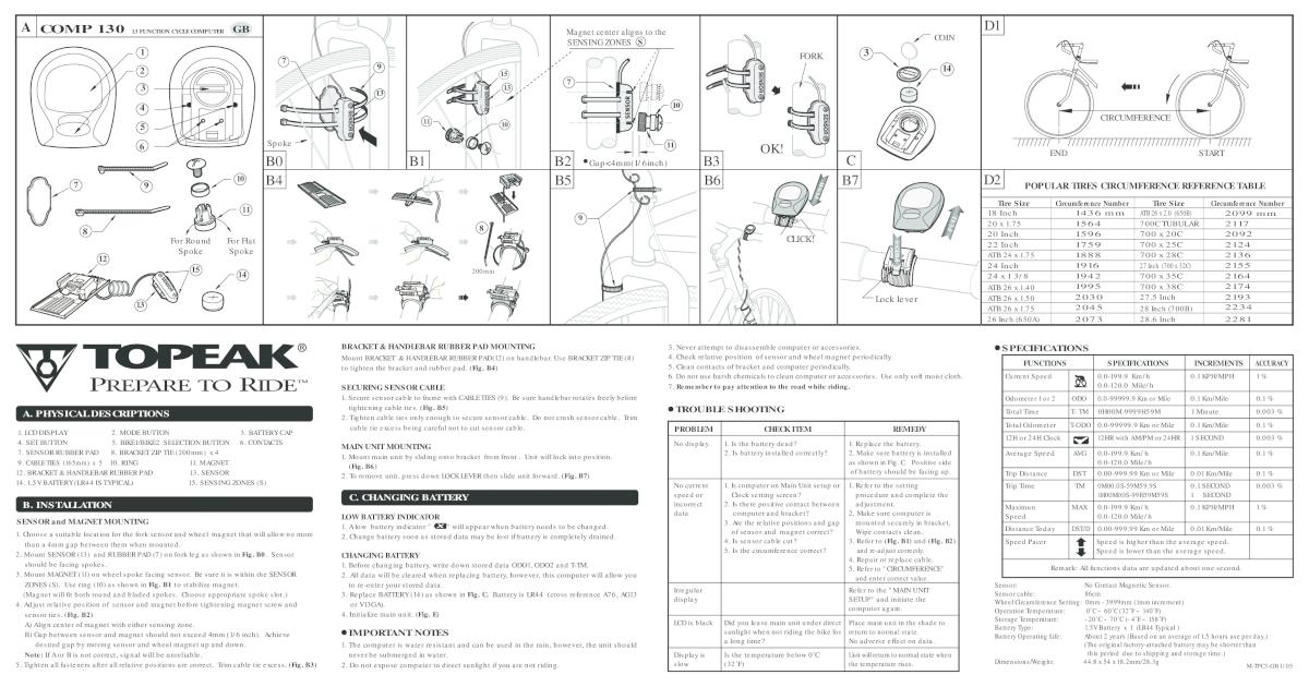 topeak comp 150 manual pdf