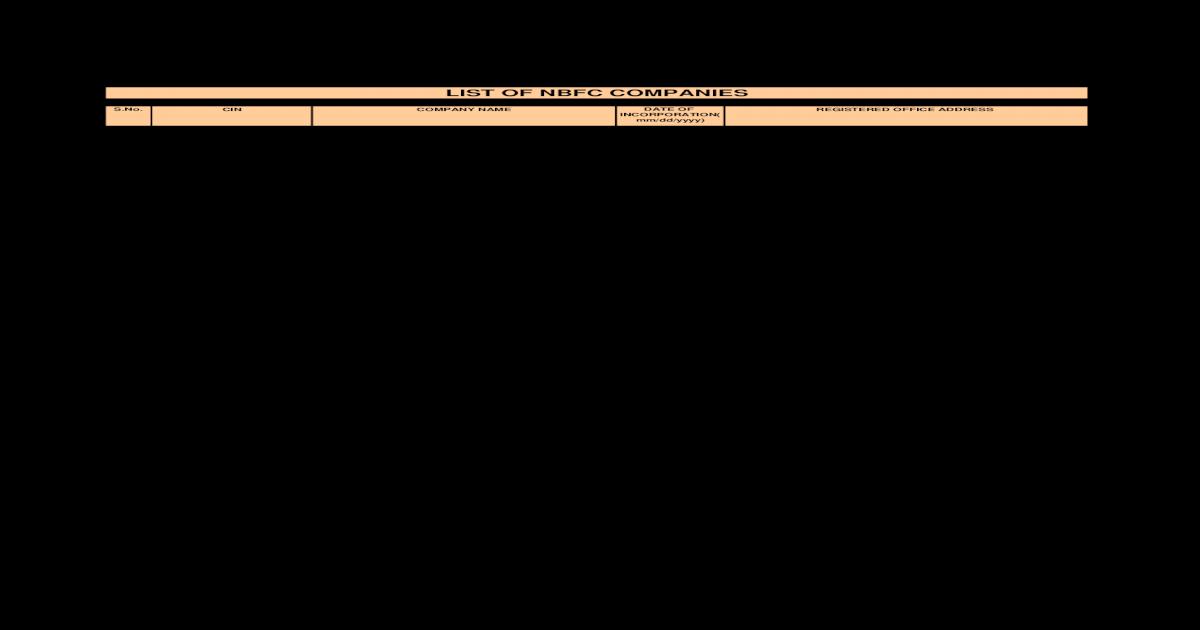 Nbfc Companies 6nov2008