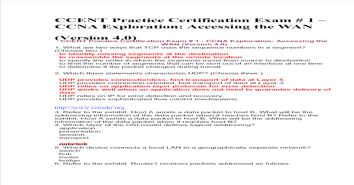 ccent exam certification