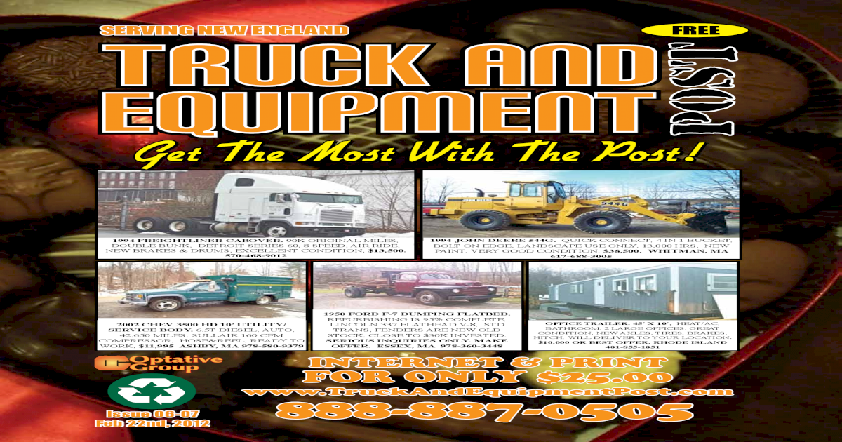 Truck And Equipment Post - Issue #06-07, 2012 on
