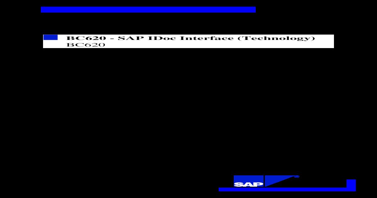 SAP IDoc Interface (Technology)