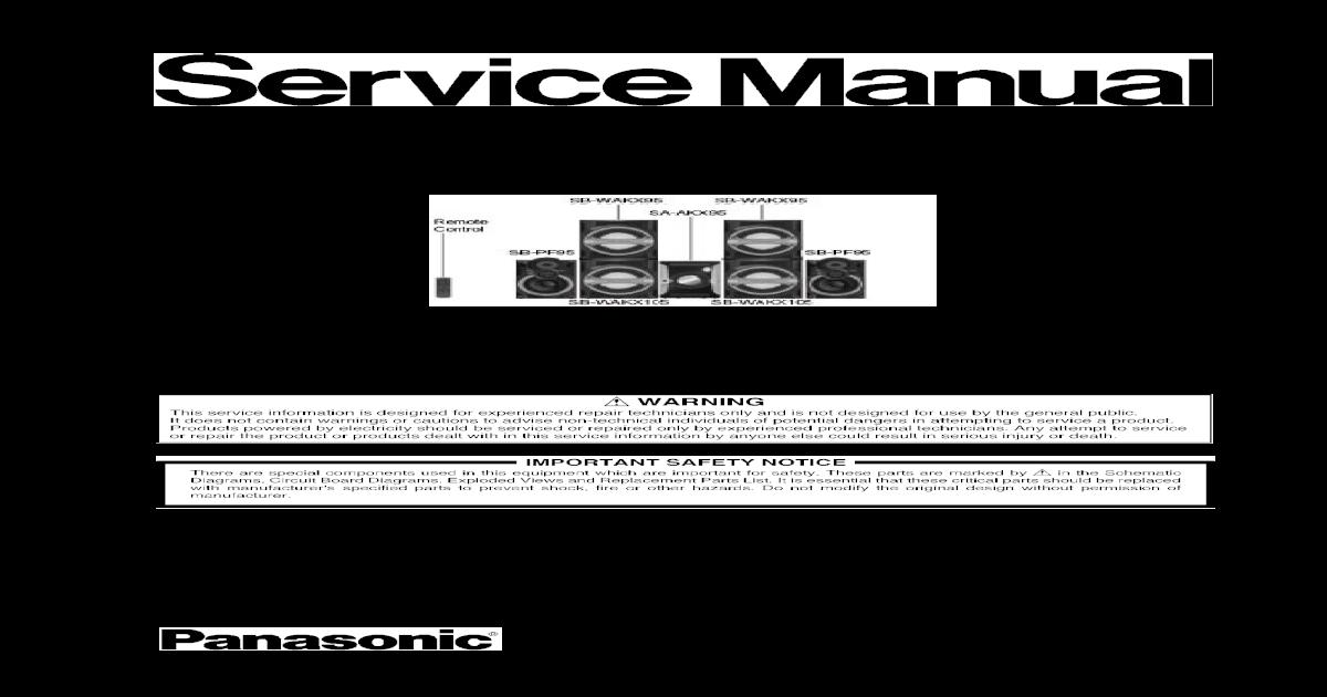 Panasonic sa ht95 manual arts